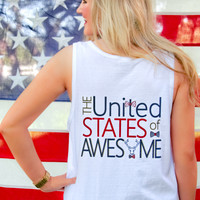 Jadelynn Brooke United States Of Awesome Tank - White