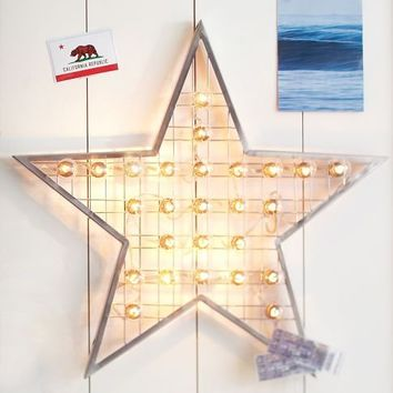 Star Marquee Wall Light