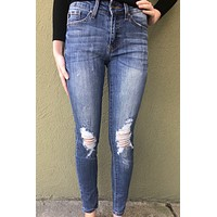 Kan Can Lightly Destructed-Denim