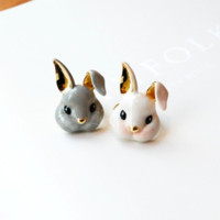 Cute Tiny Rabbit Necklace(gold / silver)