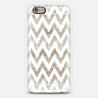 white sparkly chevron iPhone 6 case by Marianna Tankelevich | Casetify