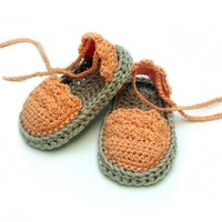 Crochet Baby Espadrille Sandals n.104 by Beatifico - Craftsy