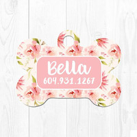 Dog Tags Personalized Dog Tags for Dogs Pet Tags Pet Id Tags Dog Tag for Collar Dog Tag for Small Dogs Dog Collar Tag Pink Cream Custom