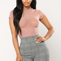 Anything I Want Mesh Top - Mauve