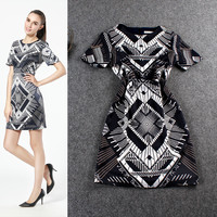 Abstract Design Mini Dress