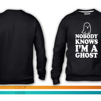 Nobody Knows Im A Ghost crewneck sweatshirt