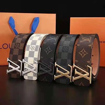 Louis Vuitton LV Monogram smooth buckle belt