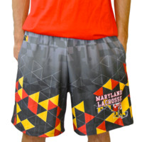Maryland Triangle Lax Shorts   Lacrosse Unlimited