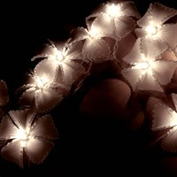 White Floral Flower Handmade Coil String Lights for Weddings, Parties, Home Decoration