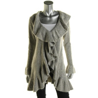 Style & Co. Womens Wool Blend Marled Cardigan Sweater