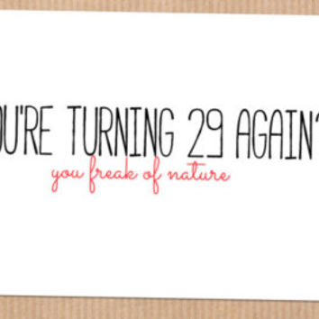 Funny 30th Birthday Card, Getting Older, For Her, Best Friend, Humor, Sarcastic
