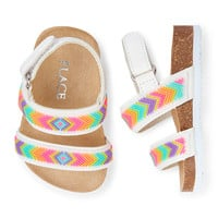 Baby Girls Double-Strap Beaded Luna Sandal | The Children's Place