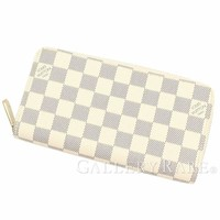 LOUIS VUITTON Zippy Wallet Damier Canvas Azur N41660 Spain Authentic 4322726