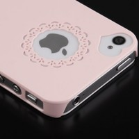 Pandamimi Dexule Baby Pink Cute Girls Ultra-thin Ice Cream Glossy Hard Case Cover for iPhone 4 4S