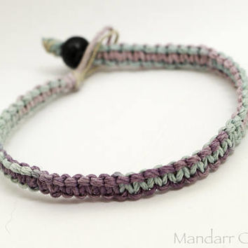 Pastel Single Hemp Bracelet 7 inch Size Ready to Ship Gift for Her - Clearance SALE