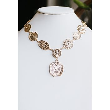 Different Coin Chain & Dangle Necklace
