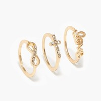 Eternal Love Midi Ring Set | Jewelry | charming charlie