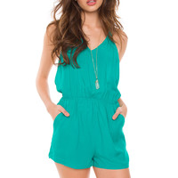 Spencer Romper - Teal