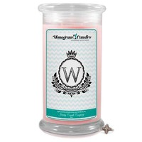 Letter W Monogram Candles