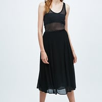Ghost Tamaryn Pleated Skirt in Black - Urban Outfitters
