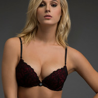 Two-Tone Lace Scandalous Push-Up Bra