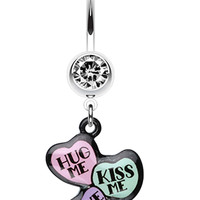 Triple Heart Statement Belly Button Ring