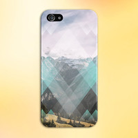 Faded Geometric Diamonds x Rocky Mountain Phone Case for iPhone 6 6 Plus iPhone 5 5s 5c 4 4s Samsung Galaxy s5 s4 & s3 and Note 5 4 3 2