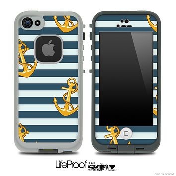 Nautica Gold and Navy Skin for the iPhone 5 or 4/4s LifeProof Case