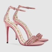 Gucci Suede sandal with crystals