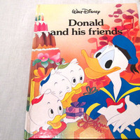 Donald, Duck, Friend, Children, Illustrated, Book, Hardcover, Walt, Disney, Cartoon, Bed Time Story, Kid, Picture, Character, Beginner, Gift
