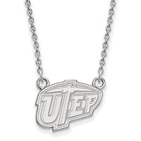 NCAA Sterling Silver U of Texas at El Paso Small Pendant Necklace