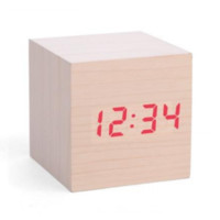Wood cube LED clock Elemental Store