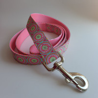 """Spring Colors Dog Leash - Matching Dog Lead for Pretty Spring Collars 1"""" wide - choose your length"""