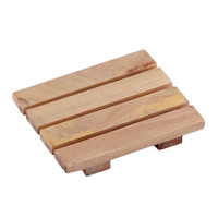 1Pc Wood Wooden Soap Dish Storage Tray Holder Bath Shower Plate Bathroom Hot Sale