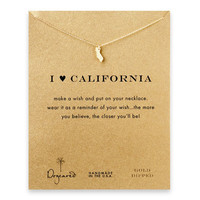 I love california necklace, gold dipped