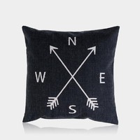 """Compass Pillow Cover 18"""" x 18"""""""
