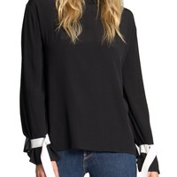 Natalie Pleated Back Blouse