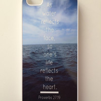 Proverbs 27:19 iPhone Case
