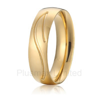 high quality China Supplier forever love titanium fashion jewelry gold plated wedding rings for men