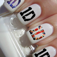 One Direction 1D nail decals tattoos nail art