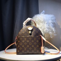 DCCK Gb591025 Lv Louis Vuitton M44677 Small Backpack In Monogram Leather  25*23*12.5cm