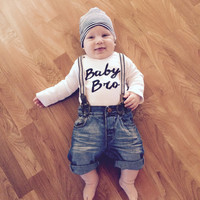 Baby Bro bodysuit, baby brother, little brother, baby boy clothes, boy clothes, infant clothes, baby shower gift