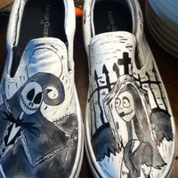 Nightmare Before Christmas hand painted shoes