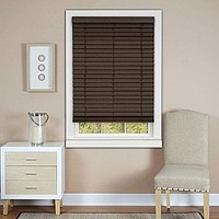Ben&Jonah Collection Cordless Madera Falsa 2 inch  Faux Wood Plantation Blind 23x64 - Mahogany