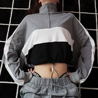 Sexy Cropped Turtleneck Sweatshirt