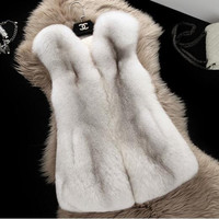 Vest Winter Ladies Fur Sleeveless Korean Stylish Jacket [9328122372]