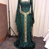 Celtic dress, medieval dress, elven dress, skyrim costume, renaissance dress, Gothic dress, handfasting, Fae dress, woodland dress