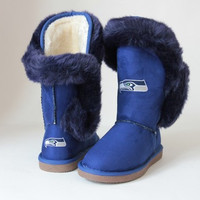"""Seattle Seahawks Women's Cuce Official NFL """"Champions"""" Boots"""