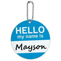 Mayson Hello My Name Is Round ID Card Luggage Tag