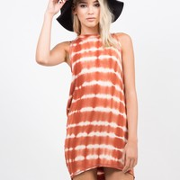 Tie-Dye Hi Low Tunic Dress